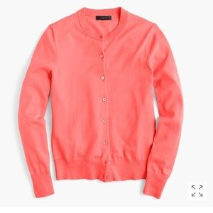 J Crew Cotton Jackie cardigan sweater S Coral Pink